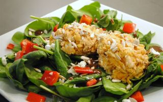 Roasted Red Pepper Salmon Salad
