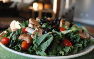 Simple and Filling Kale Salad