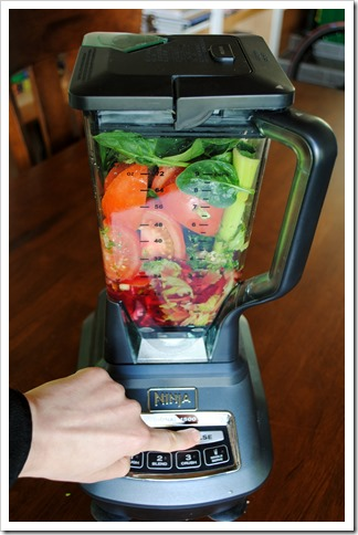 Making V8 Juice in the Ninja Blender   Test Kitchen Tuesday