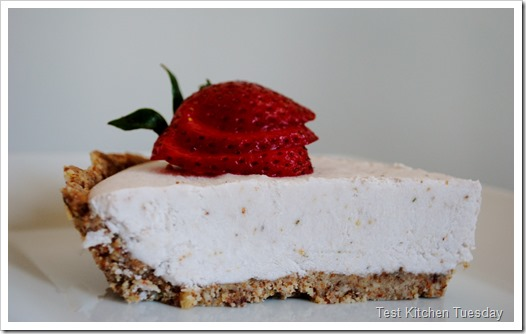Raw Strawberry Cream Pie | Test Kitchen Tuesday